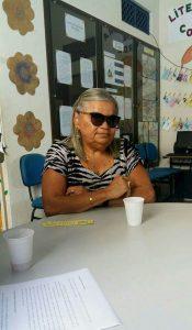 Na foto, Maria Verônica Esteves, 62 anos, que compartilhou suas recentes experiências de leitura e historia de vida.