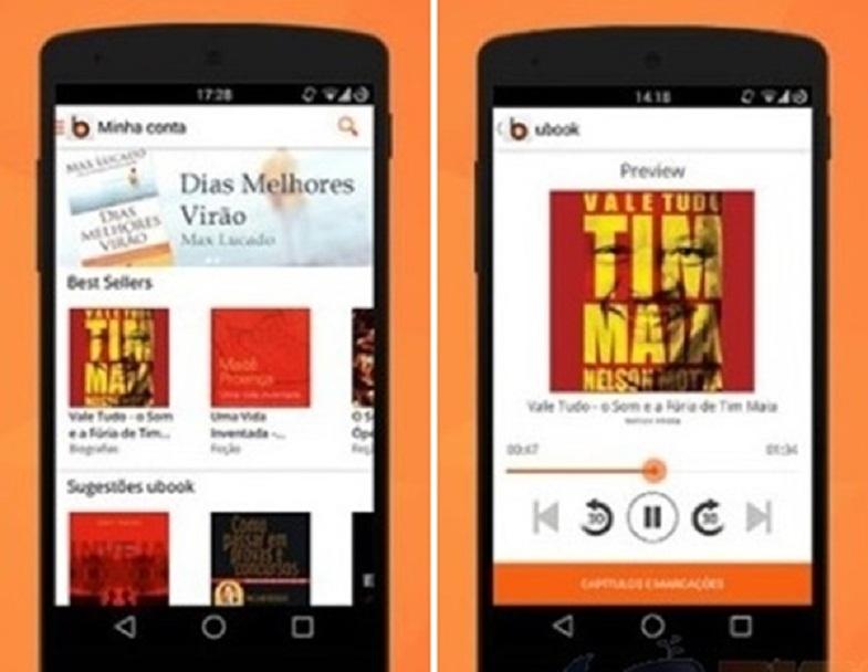 imagem ilustrativa do aplicativo funcionando em um smartphone