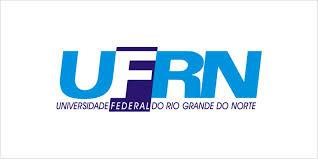 Fundo Branco, letras maiúsculas de forma na cor azul: UFRN. Letra F destacado com fundo azul escuro. Abaixo em letras menores: Universidade Federal do Rio Grande do Norte.